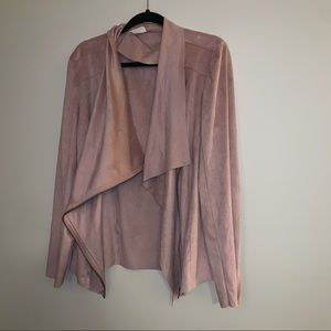Light Pink Suede Like Jacket Perfect for Sping